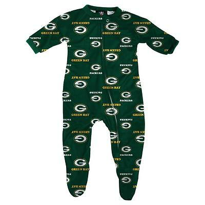 Green Bay Packers Baby Infant Pajamas Onesie Coverall (FREE SHIPPING) 0-3 months