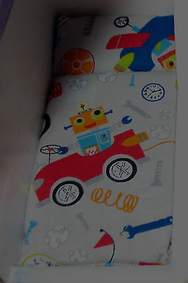 Dollhouse Bed Mattress For Little Tikes Grey & Robots