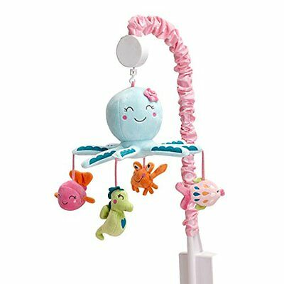 Carter's Sea Collection MUSICAL MOBILE, Baby CRIB MOBILE, Pink/Blue/Turquoise