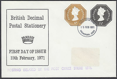 1971 British Decimal Postal Stationery 1 1/2p + 4p Compound Embossed STO FDC