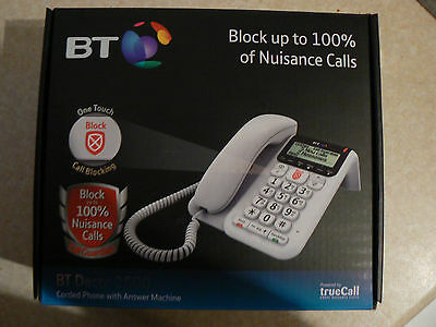 BT DECOR 2600 Corded Telephone Answer Machine Call Blocking Feature Brand New