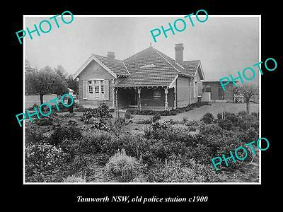 OLD LARGE HISTORIC PHOTO OF TAMWORTH NSW, VIEW OF THE OLD POLICE STATION c1900