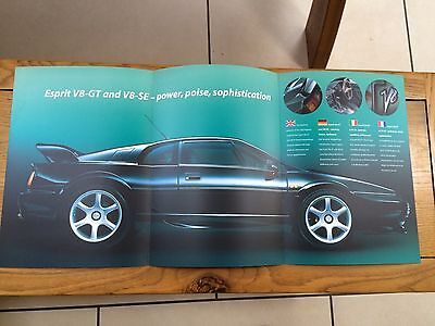 Lotus Esprit Brochure - 1990's - Mint