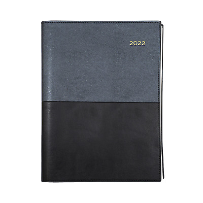 2019 Collins Vanessa A4 1 Day to A Page DTP Spiral Diary 1/2 Hourly BLACK