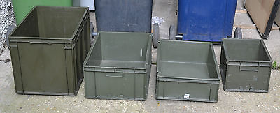 Stacking Heavy Duty Commercial Plastic Euro Storage Box Military Army Land Rover