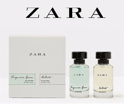 Zara Woman Turquoise Green White Box Eau De Toilette Fragrance