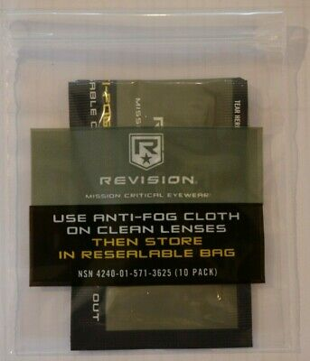 Revision Anti Fog Cloth Wipes Choose Quantity Required