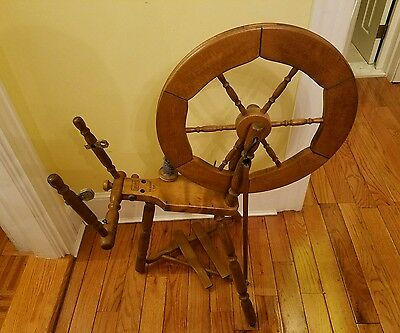 ANTIQUE louet spinning wheel SAXONY S 87 MADE IN HOLLAND