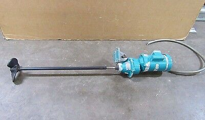 Brawn Model Lg33 Side Mount Tank Mixer Agitator 0.33Hp 115/208-230V 1Ph 34""