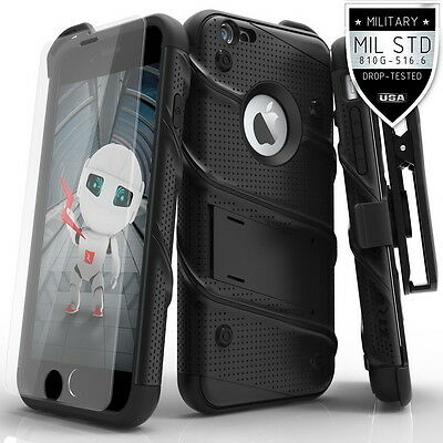 iPhone 6 Plus / 6s Plus Case Zizo Bolt Series Tempered Screen Protector Holster