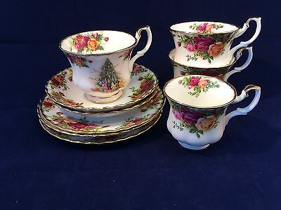 Royal Albert Old Country Roses Coffee & Tea Cup Saucers Plates Christmas Cup