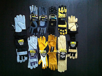 Wholesale Lot of 10 Work Gloves Leather Polyester Suede Cotton THINSULATE