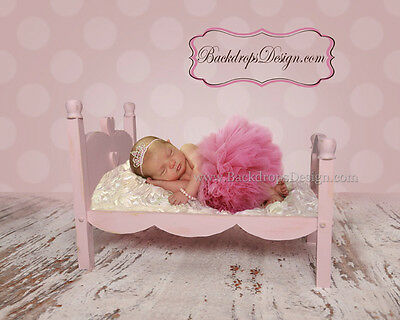 Newborn  bed photo prop baby photography log wood bed Valentines vintage style