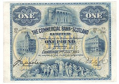 1915 The Commercial Bank of Scotland Ltd £1 - BYB ref: SC402b.
