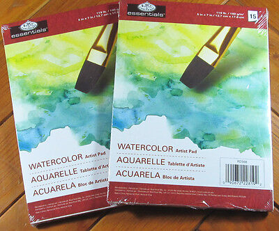 essentials watercolor artist paper pad 5 x 7 set of 2 4 99