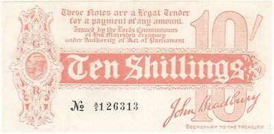 Ten Shillings 10/- Treasury Note - BYB ref: TR1a - VF+ condition.
