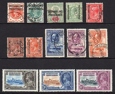 Bechuanaland 13  Stamps Mounted Mint & Used