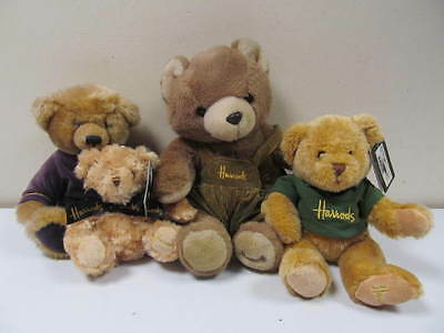 Harrods Collectable Bears 4 x Bears Lot