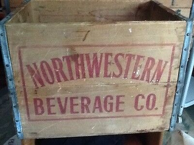 Vintage Northwestern Beverage Co. Wood Soda Crate Carrier Chicago