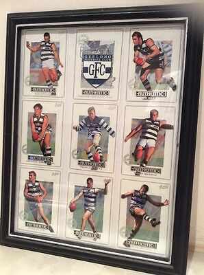 GEELONG AUSTRALIAN RULES FOOTBALL OFFICIAL 2001 Framed Collector Cards