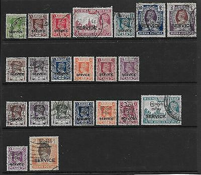 Burma  Selection Of Used Gvi Officials   Good/fine