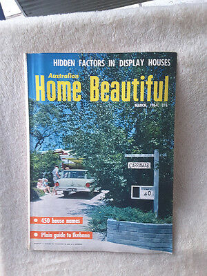 Vintage Australian Home Beautiful Lifestyle Magazine. March 1964
