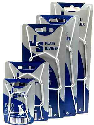 JES Wire Plate Wall Display Spring Hangers Holder in white Size 0,1,2,3,4 select