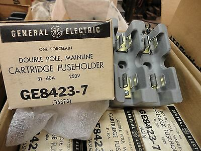 GE 60 AMP 2 POLE 250VOLT PORCELAIN CARTRIDGE FUSE HOLDER New Old Stock Unused