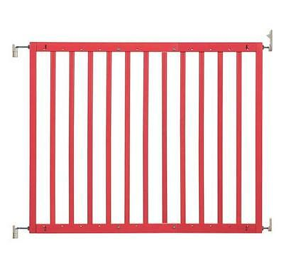New Badabulle wooden safety gate color pop coral red 63-103.5cm by Babymoov