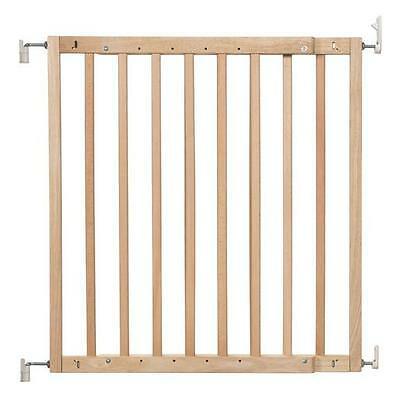 New Badabulle wood safety gate color pop natural supplied by Babymoov 63-103.5cm