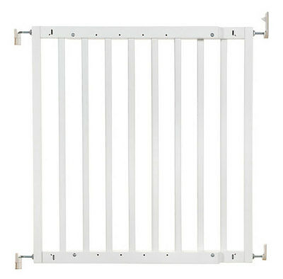 New Badabulle wooden safety gate color pop white supplied by Babymoov 63-103.5cm
