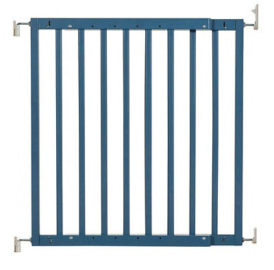 New Badabulle wooden safety gate color pop blue supplied by Babymoov 63-103.5 cm