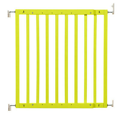 New in pack wooden safety gate color pop yellow Badabulle supplied by Babymoov