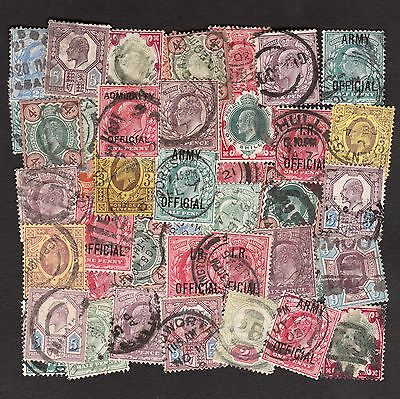 King Edward Vii Stamps: High Values & I.r., Admiralty & Army Officials (40)
