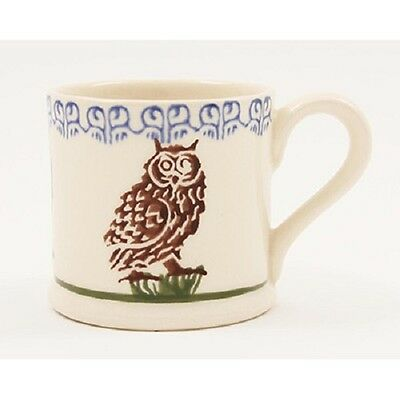 BRIXTON POTTERY NEW HANDMADE 250ml POTTERY MUG - Owl on a Stump