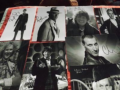 dr who photographs X12 (black and white)faux autographs