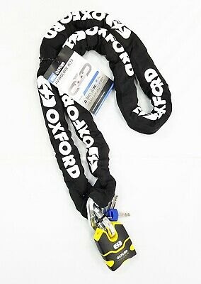 OXFORD HARDCORE MOTORCYCLE SECURITY CHAIN AND LOCK 2.0 m