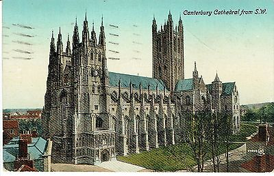 """PPC Of """"  Canterbury Cathedral from the S.W."""