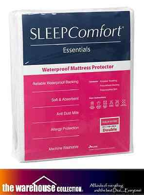 Sleep Comfort Double Mattress Protector Terry Towelling Cover Water Proof Fitted