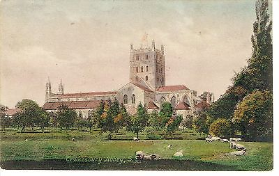 """PPC Of """" Tewkesbury Abbey S.E, """" posted 1949"""