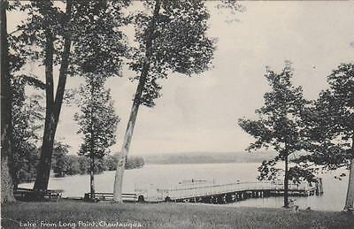 View from Long Point - Chautauqua Lake NY, New York - pm 1907 - UDB