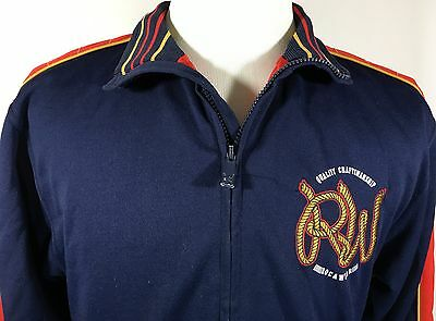 Rocawear Zip up Athletic Sweatshirt Red, Blue, Yellow YOUTH SIZE XL 18/20