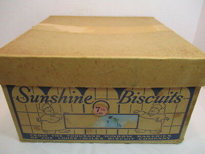 Vintage antique SUNSHINE BISCUITS BOX CIRCA 1920 - Leap Year Wafers - rare item!