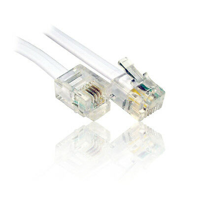 20m ADSL RJ11 Cable, Lead, Wire for use with BT, Broadband Router Modem Home Hub