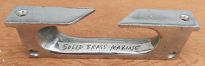 Heavy Large Vintage Chrome Plated Cast Brass Boat Specialty Boat Cleat 3 x 11 B1