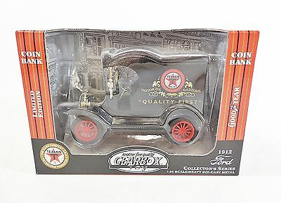 Gearbox 1912 Ford Die-Cast Texaco Delivery Coin Bank 1/24 Scale Limited Edition