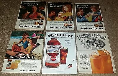 Lot of 27 Southern Comfort Print Ads + 3 Small Recipe Pamphlets 1970s to Now