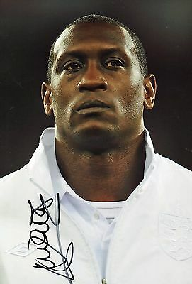 "Emile Heskey Hand Signed England 12""x 8"" Football Photo. Liverpool,Leicester etc"