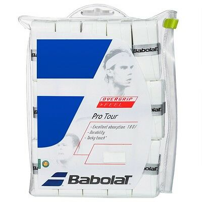 Babolat Pro Tour Overgrips - Pack of 30 White OVERGRIPS