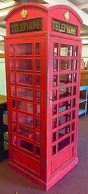 British Telephone Booth English Style Cocktail Cabinet/Bar
